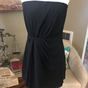 Little black dress with ruching